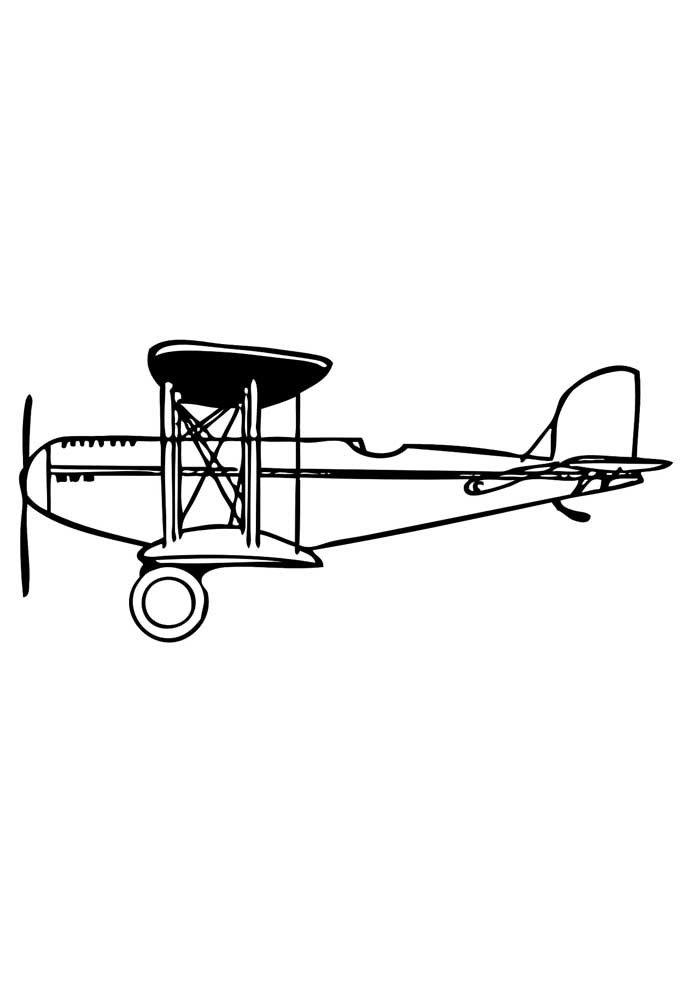 avion para colorear 3