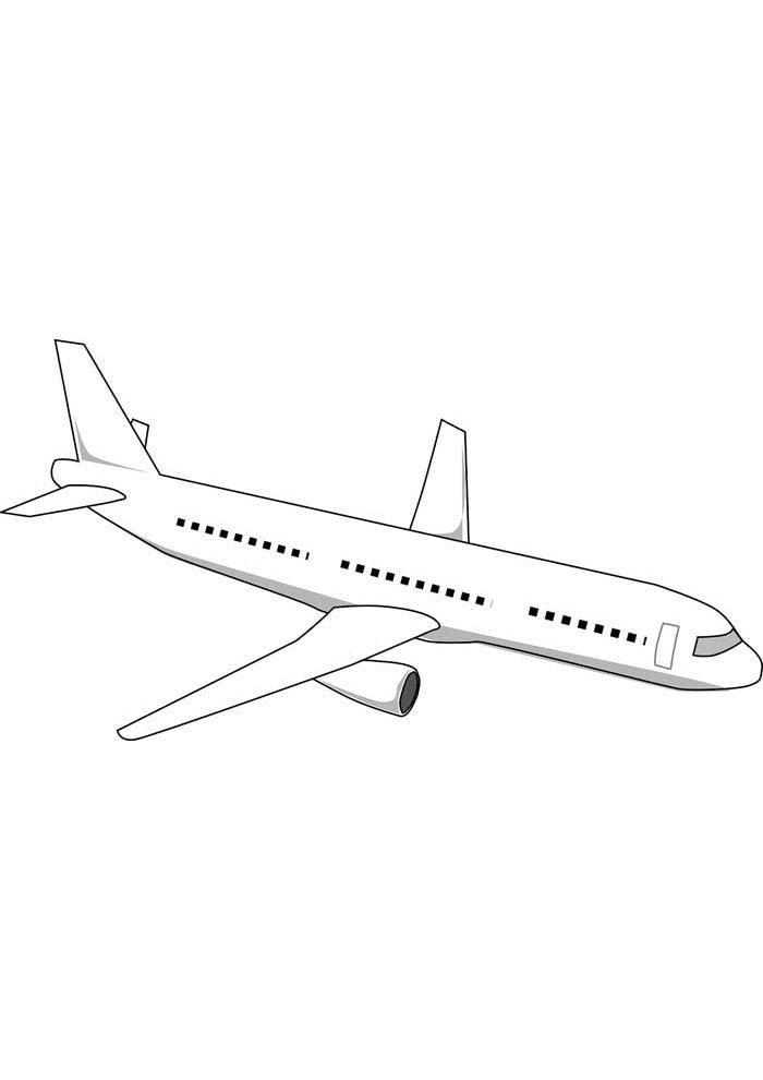avion para colorear 4