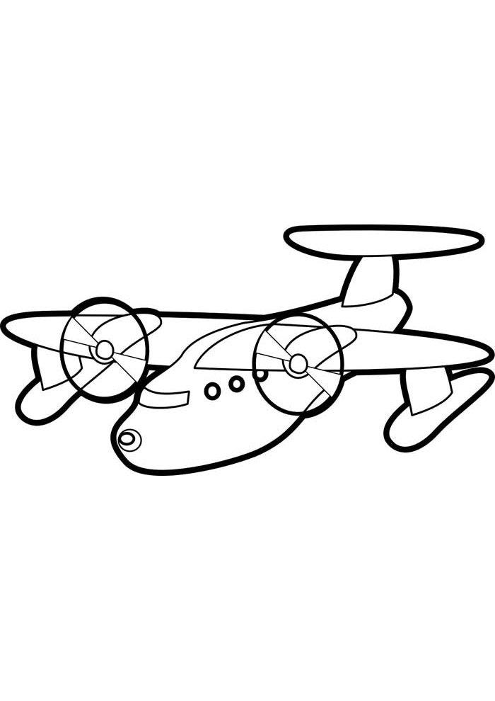 avion para colorear 5