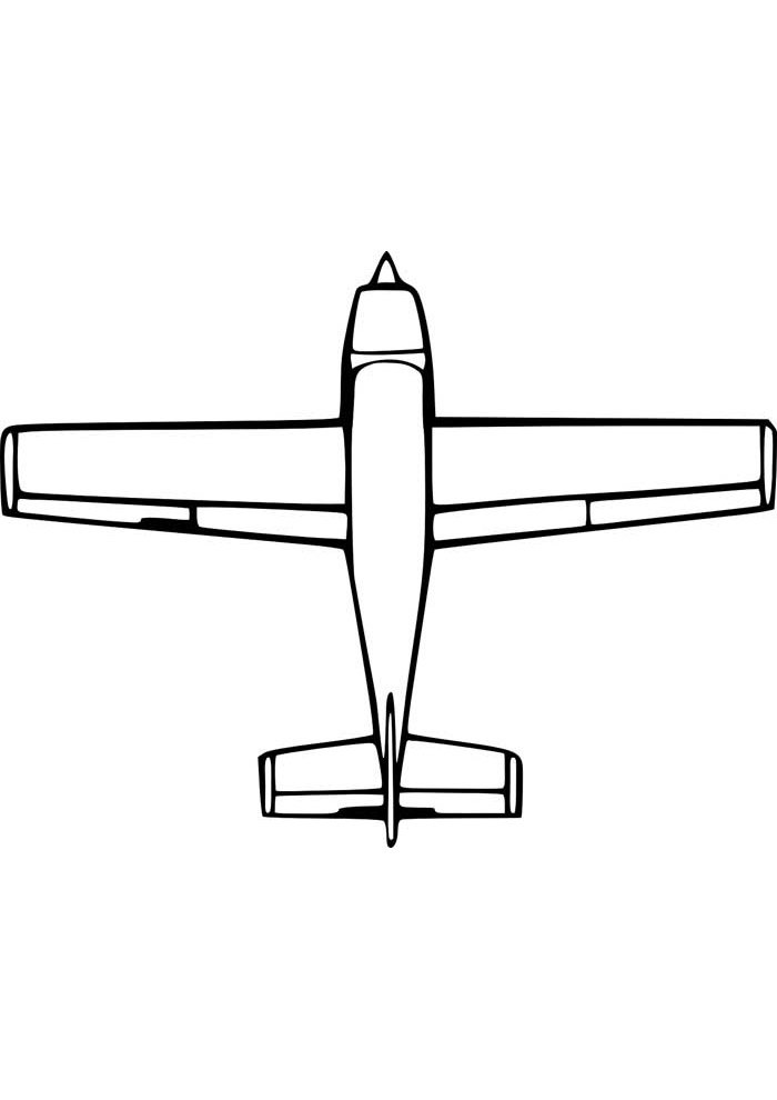 avion para colorear 6