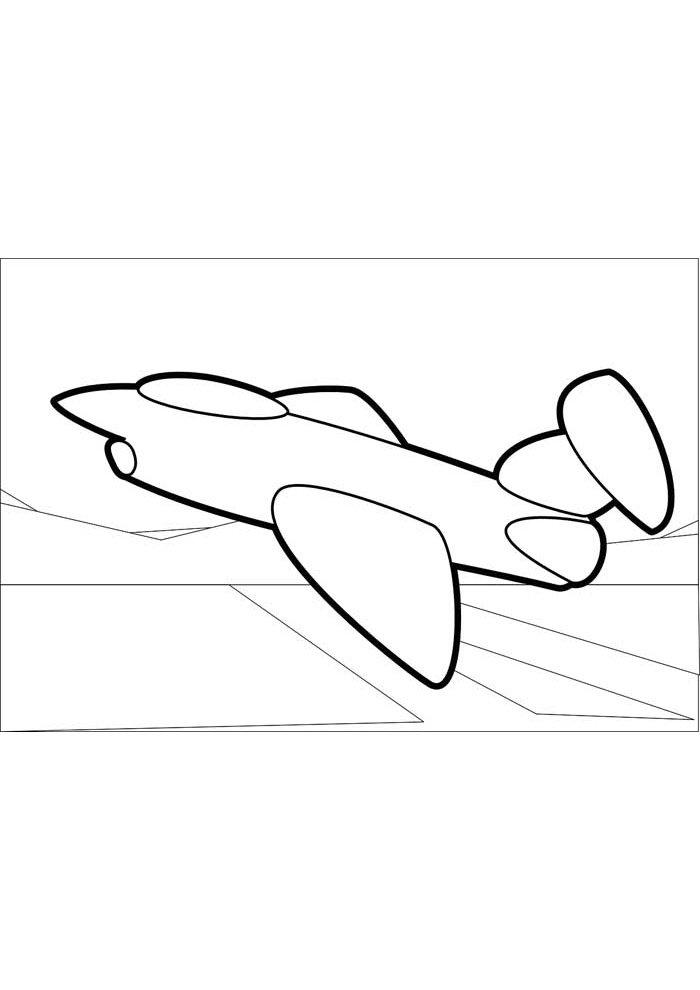 avion para colorear 7