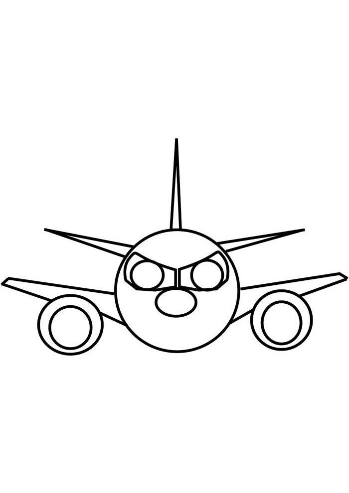 avion para colorear 9