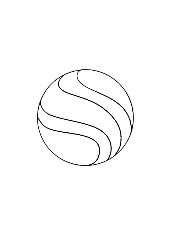 ball coloring page 1