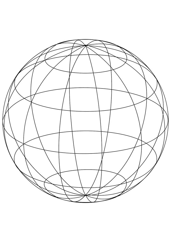 ball coloring page 10