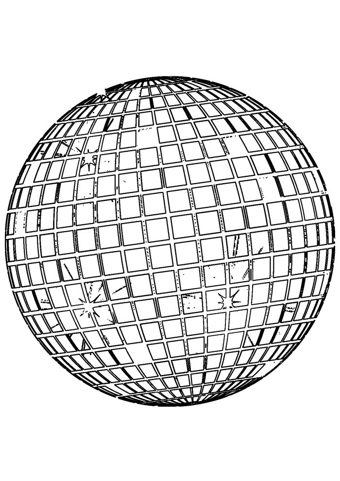 ball coloring page 11