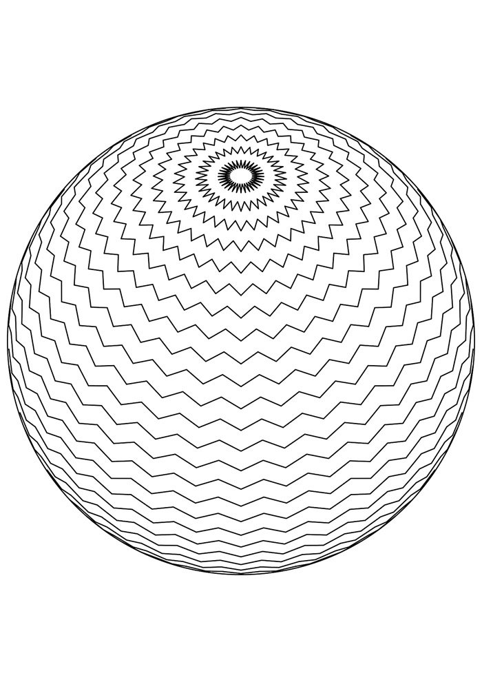 ball coloring page 12