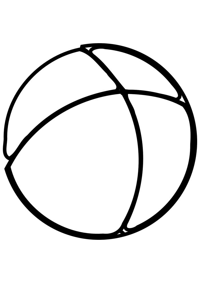 ball coloring page 4