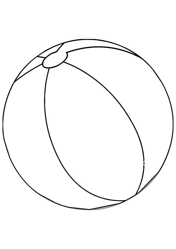 ball coloring page 5