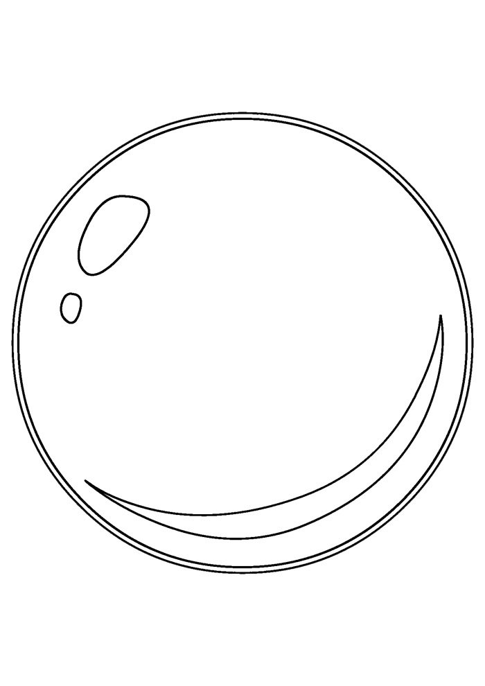 ball coloring page 7
