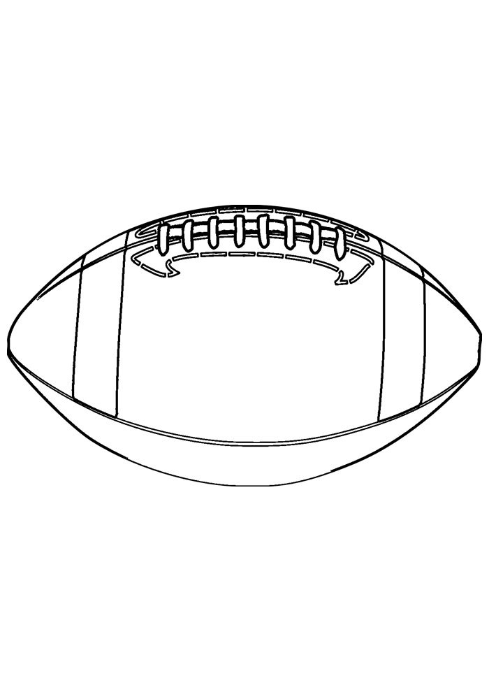 ball coloring page american foottball 1