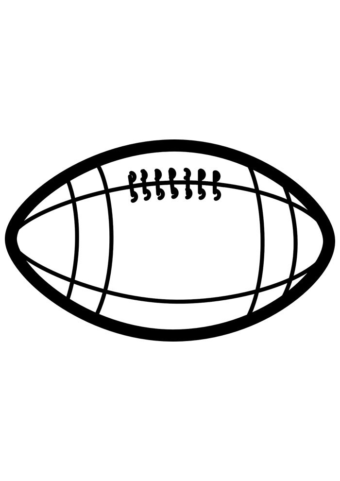 ball coloring page american foottball 2
