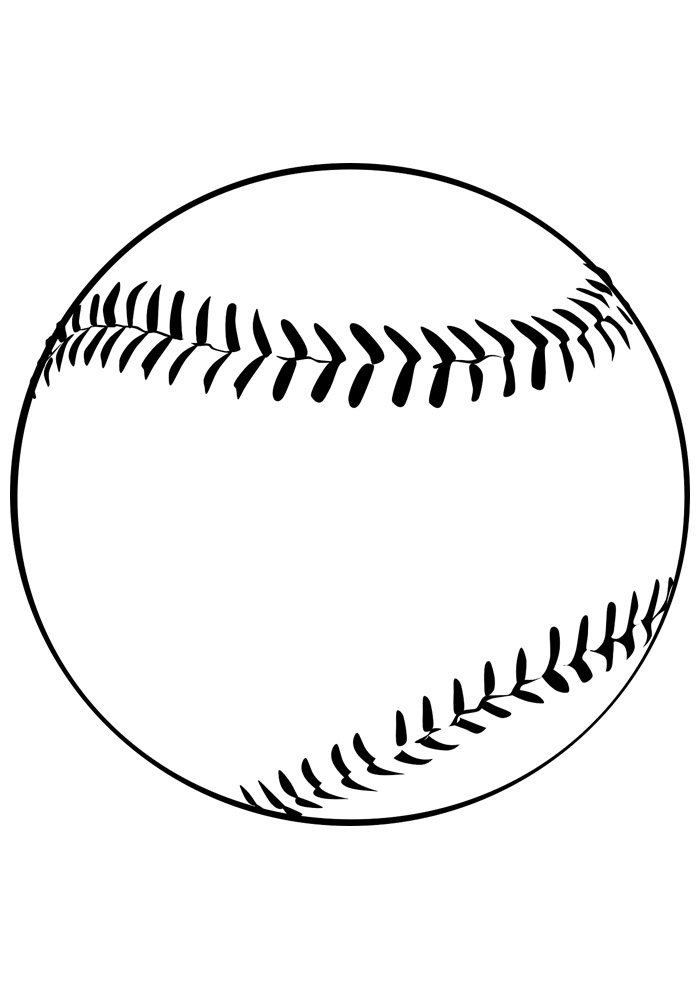 ball coloring page baseball 1