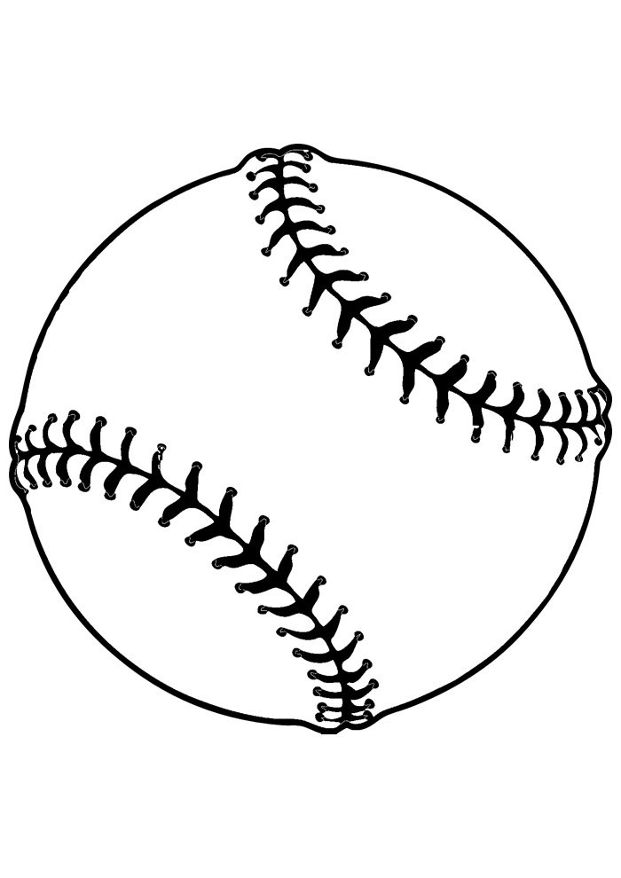 ball coloring page baseball 2
