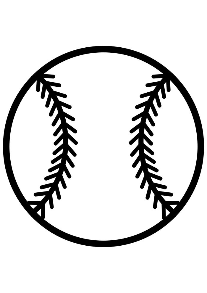ball coloring page baseball 5