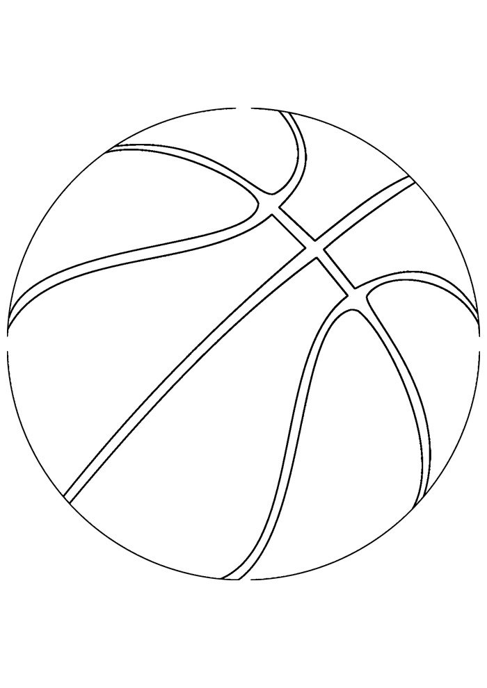 ball coloring page basketball 1