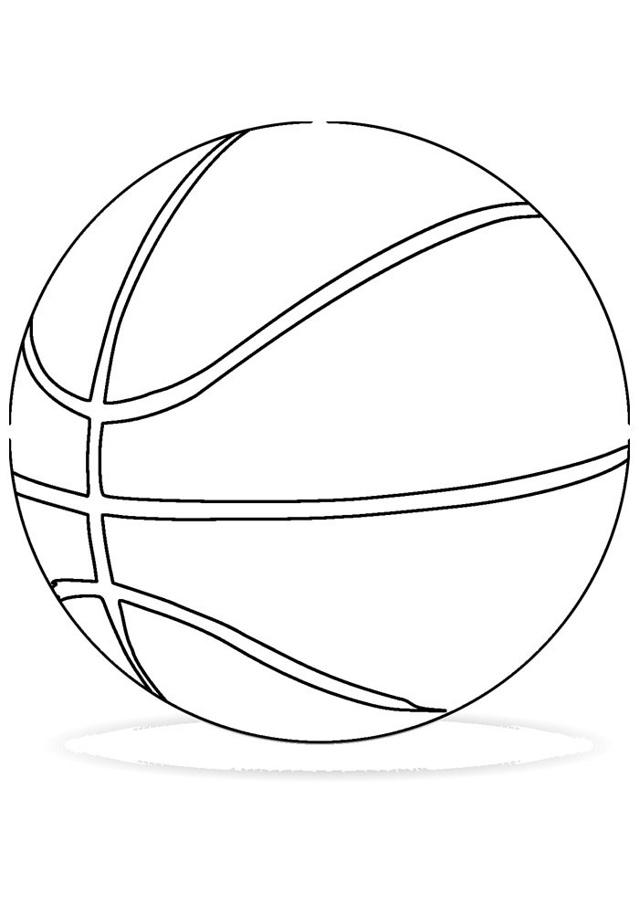 ball coloring page basketball 2