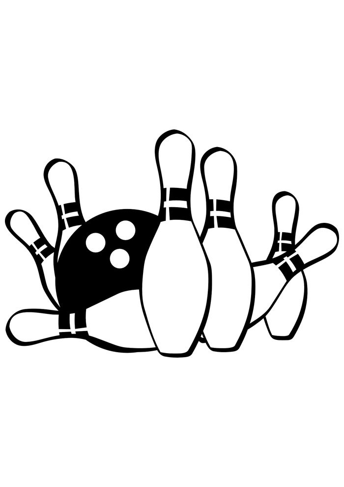 ball coloring page bowling 1