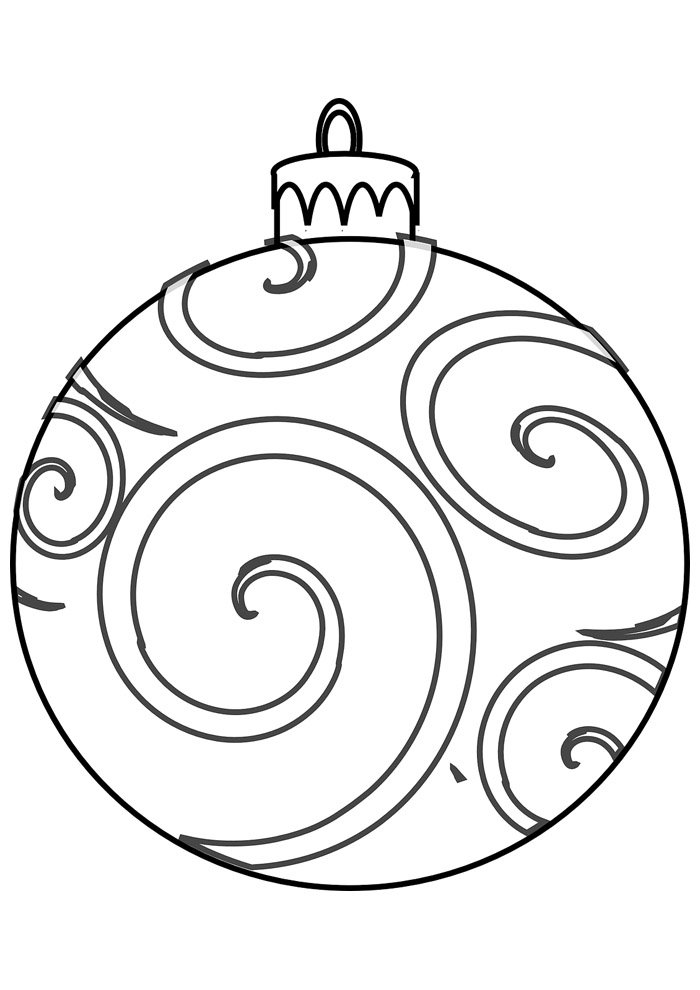 ball coloring page christmas 1