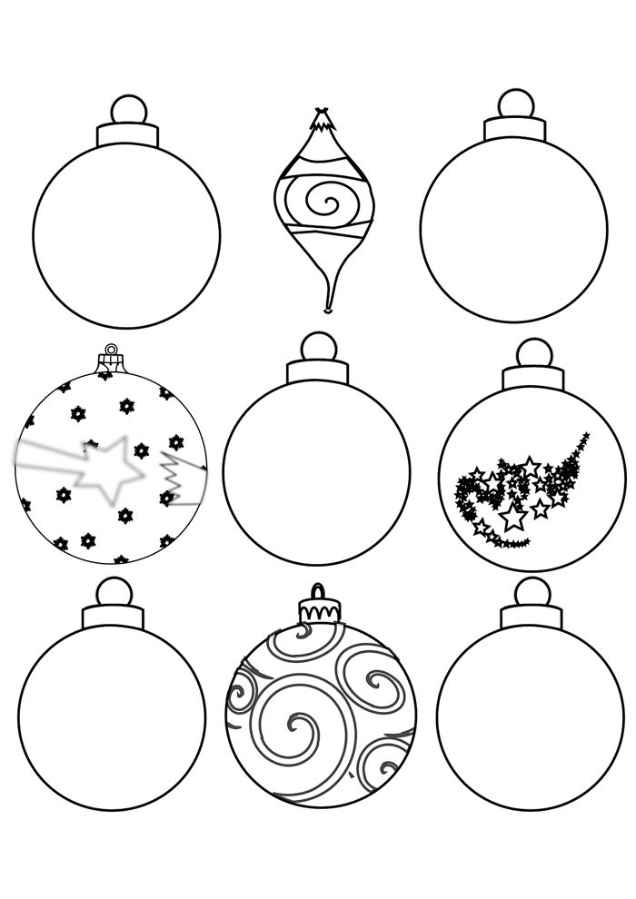 ball coloring page christmas 2