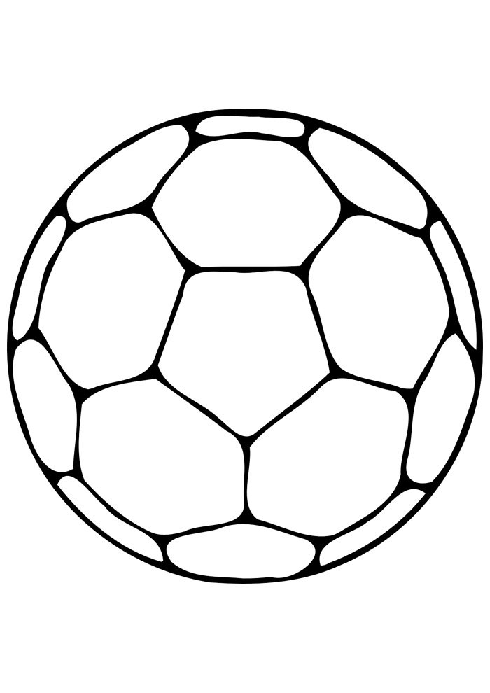 ball coloring page foottball 2