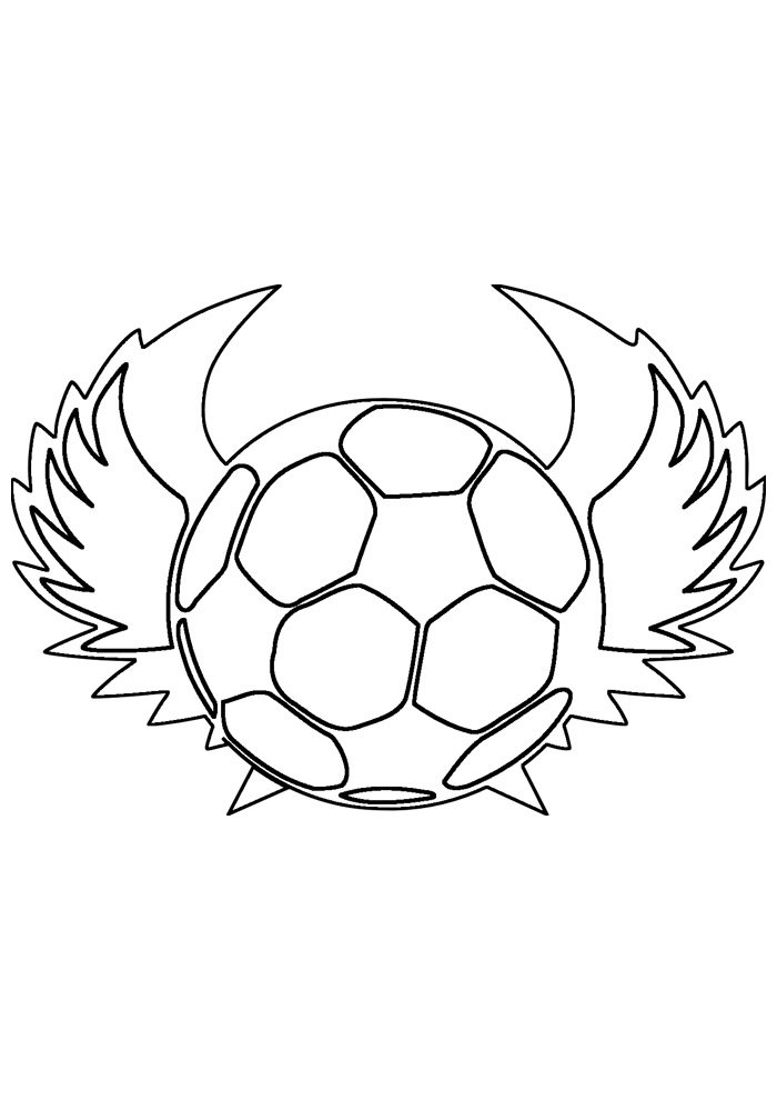 ball coloring page foottball 3