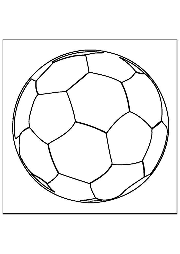 ball coloring page foottball 4