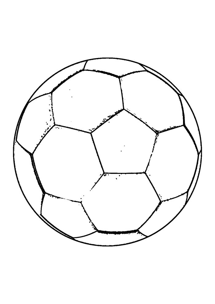 ball coloring page foottball 6