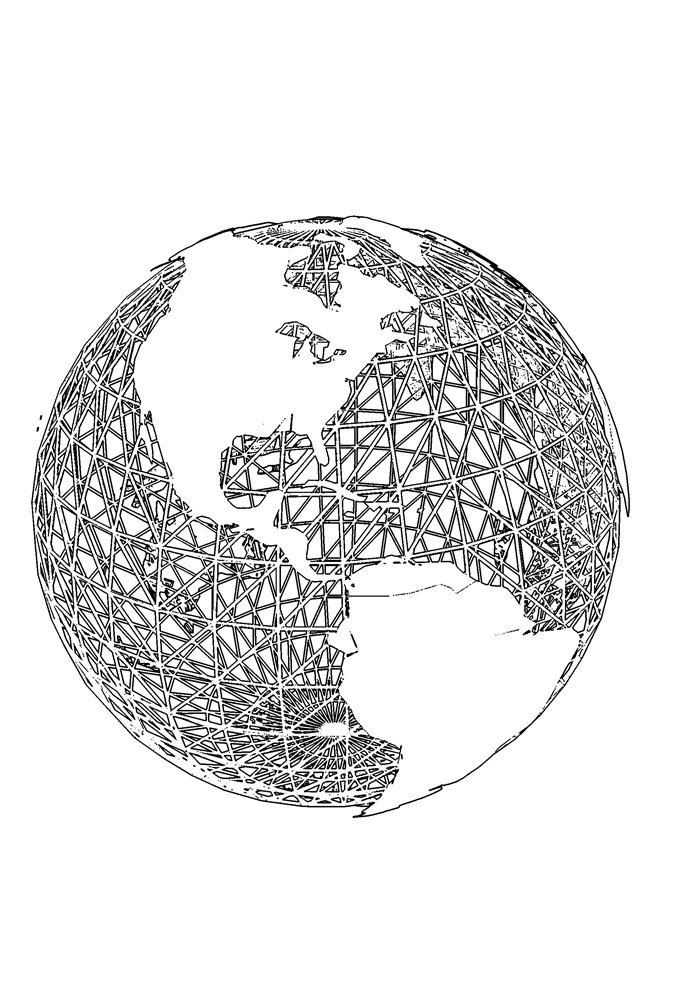 ball coloring page globe
