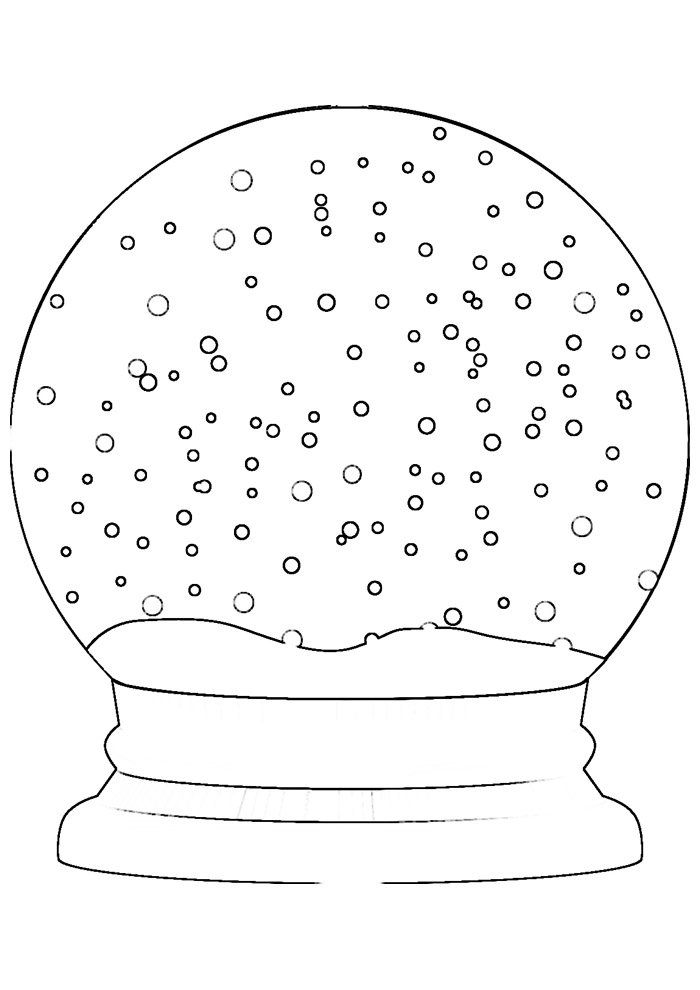 ball coloring page snow ball