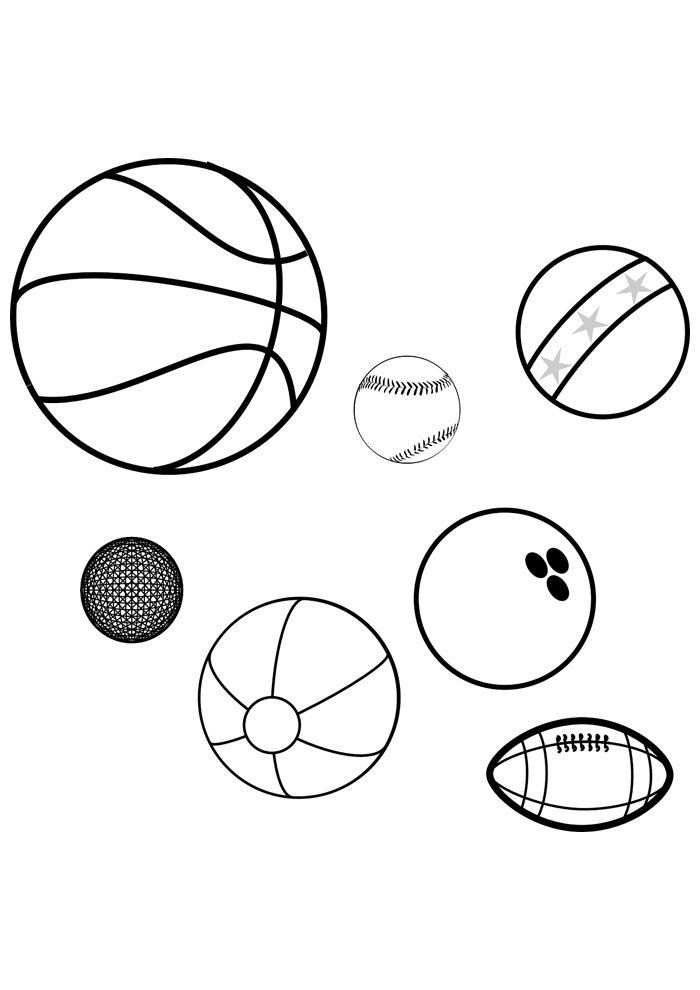 ball coloring page sports