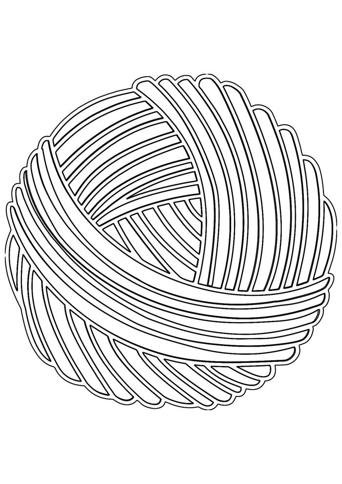 ball coloring page wool 1