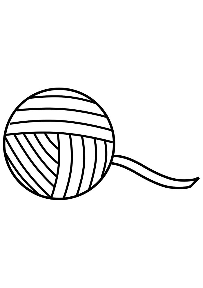 ball coloring page wool 2