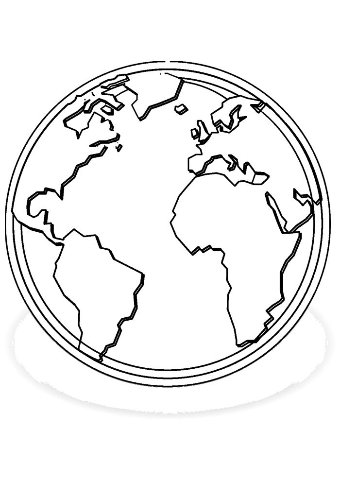 ball coloring page world map