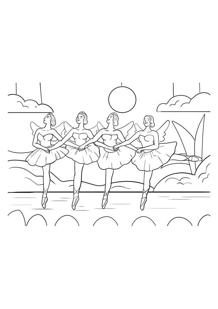 ballerina coloring page 10