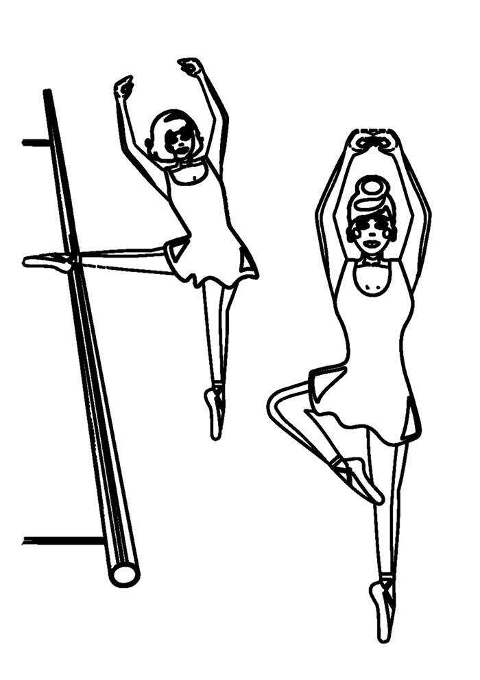 ballerina coloring page 11