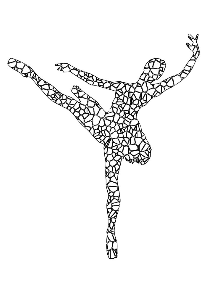 ballerina coloring page 13