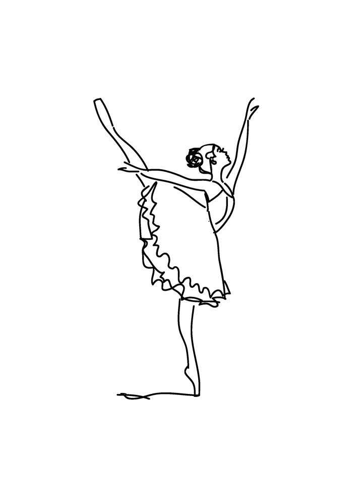 ballerina coloring page 14