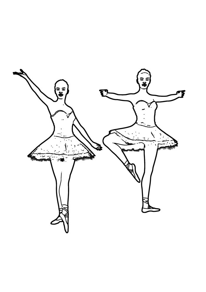 ballerina coloring page 15