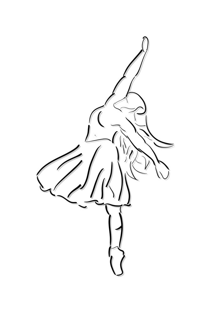 ballerina coloring page 19