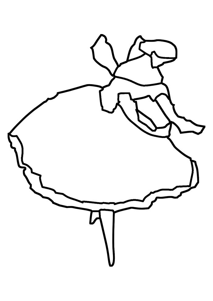 ballerina coloring page 2