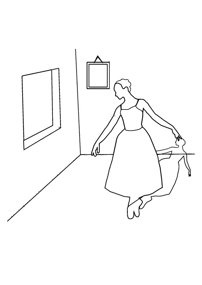 ballerina coloring page 20