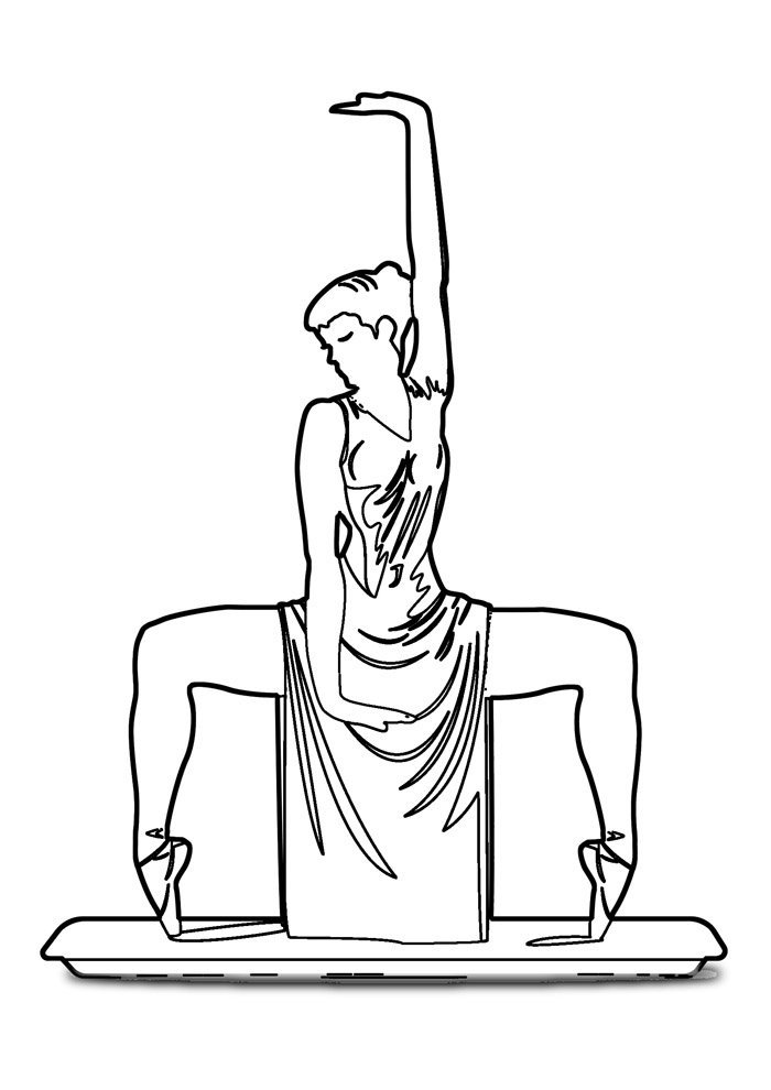 ballerina coloring page 25