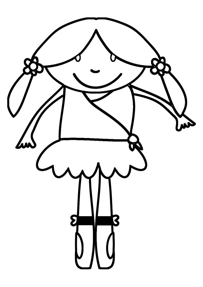ballerina coloring page 3