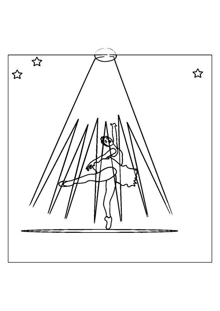 ballerina coloring page 33