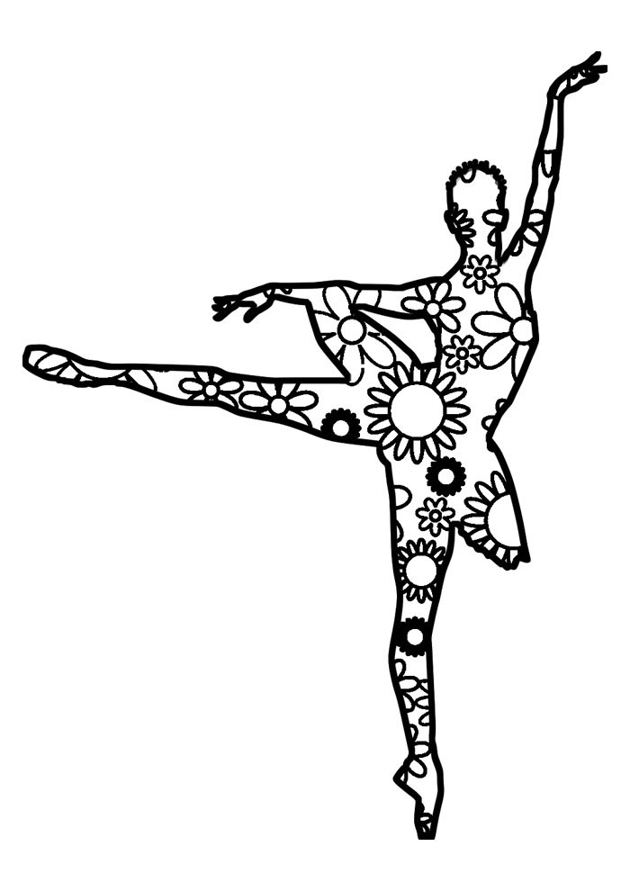 ballerina coloring page 34