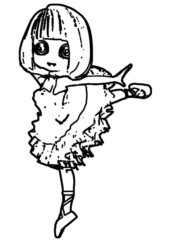 ballerina coloring page 4