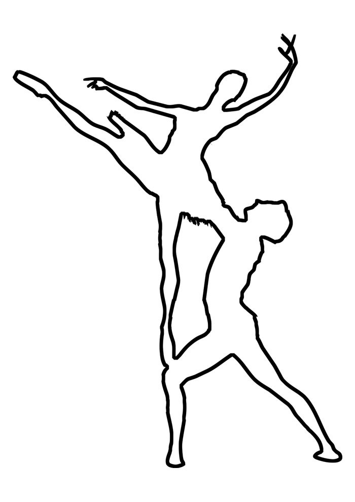 ballerina coloring page 5
