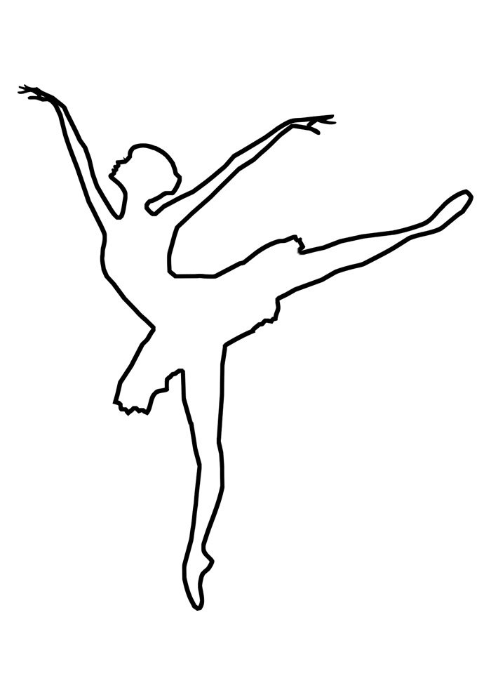 ballerina coloring page 7