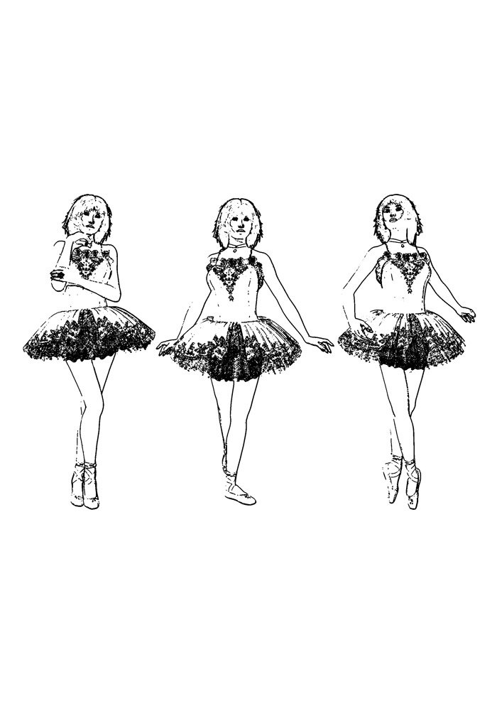 ballerina coloring page 8