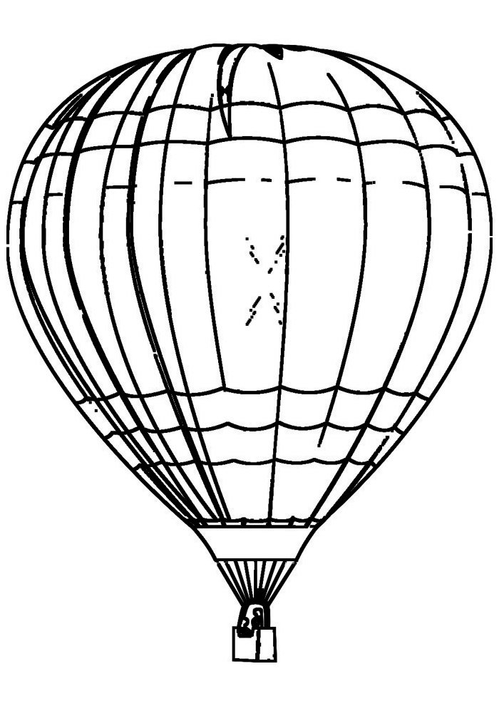balloon coloring page 1